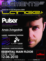 12.06.2010 - 12.06.10 - ELEMENTS with DJ LANGE and PULSER!!  @ сlub Essential
